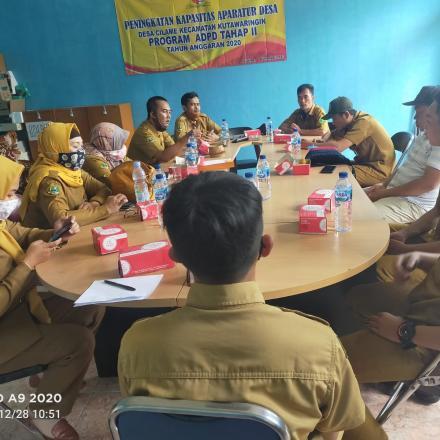 Monitoring Peningkatan Aparatur Perangkat Desa